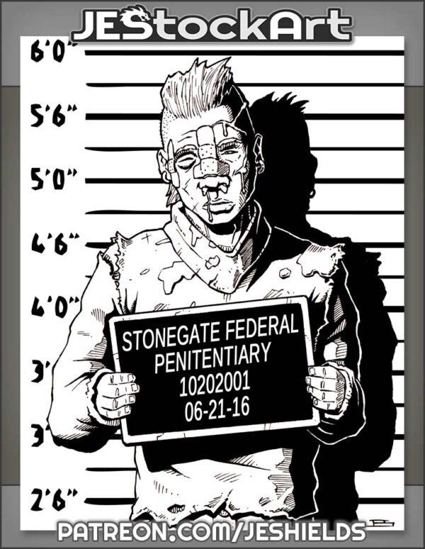 Wounded Criminal Thug Headshot by Jeshields