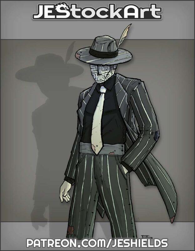 Vigilante In Striped Suit with Tie by Jeshields