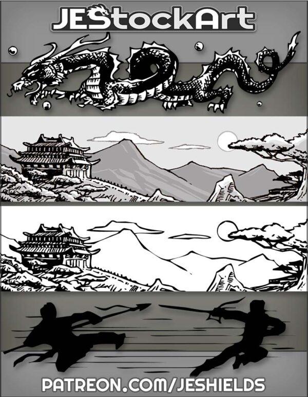 Asian Oriental Theme Illustrations by Jeshields