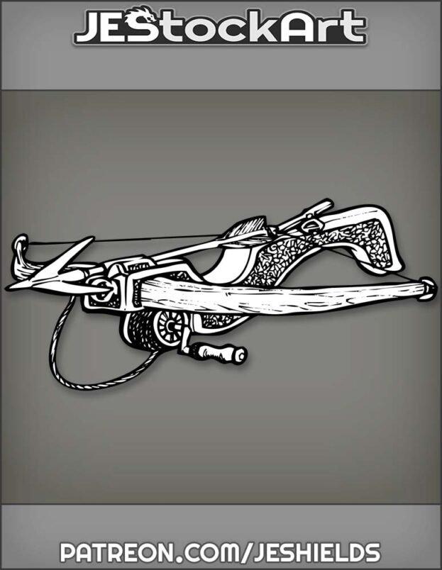 Grappling Hook On Intricate Rewinding Crossbow by Jeshields