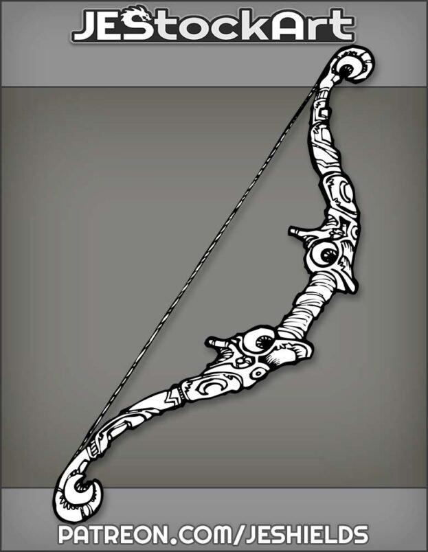 Lunar Longbow With Moon Enscriptions by Jeshields