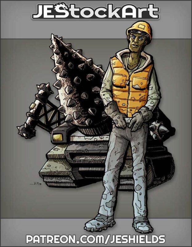Dark Skinned Heavy Equipment Operator by Jeshields