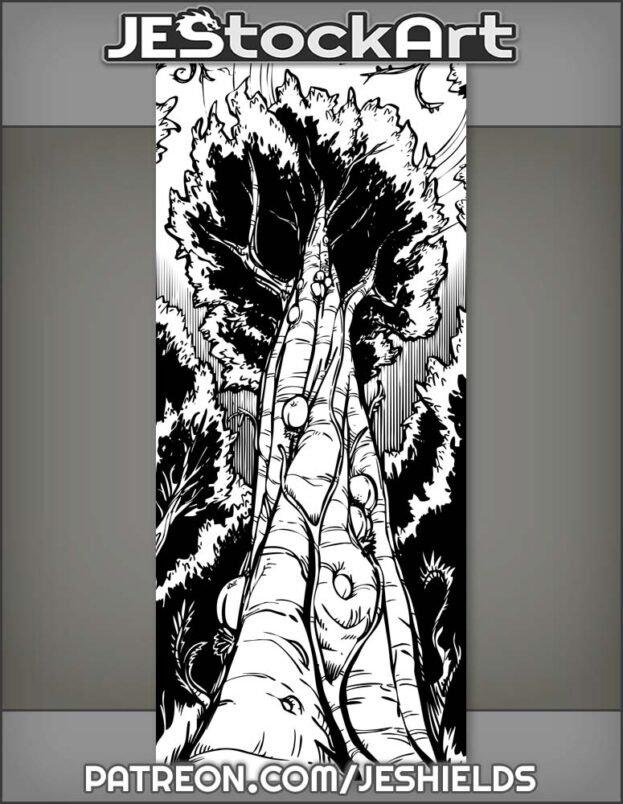 Alien Barkberry Tree Reaches Into Jungle Canopy by Jeshields