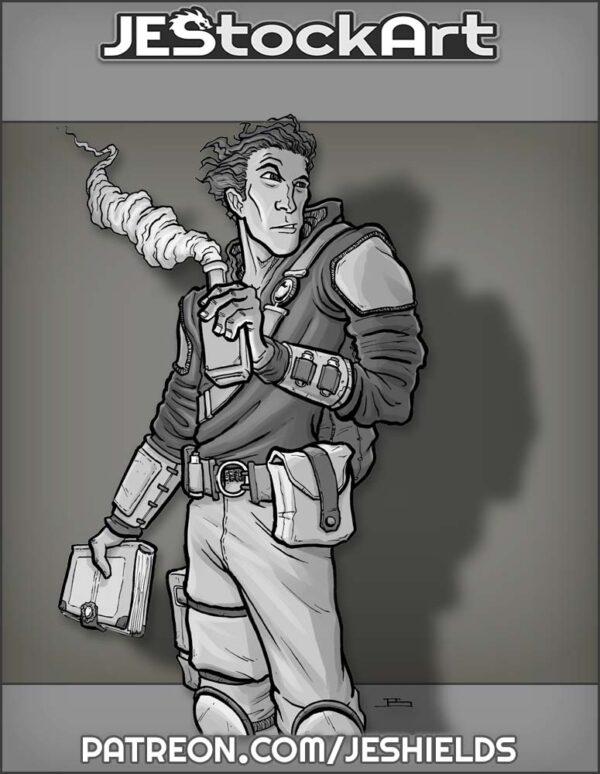 Alchemist Youth with Book by Jeshields
