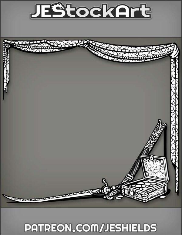 Arabian Treasure Beneath Beaded Drapes by Jeshields