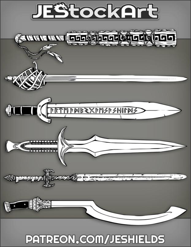Assorted Fantasy Swords by Jeshields