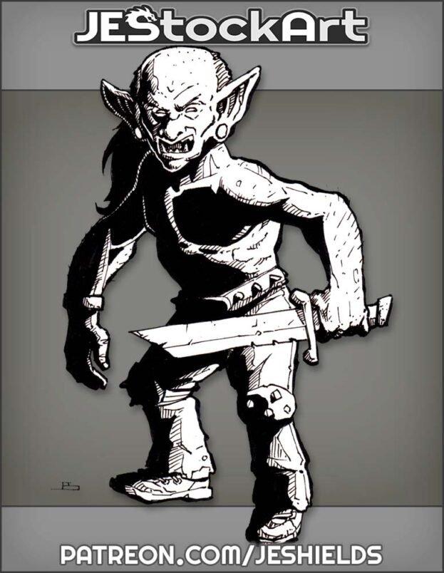 Bald Goblin With Broken Sword by Jeshields