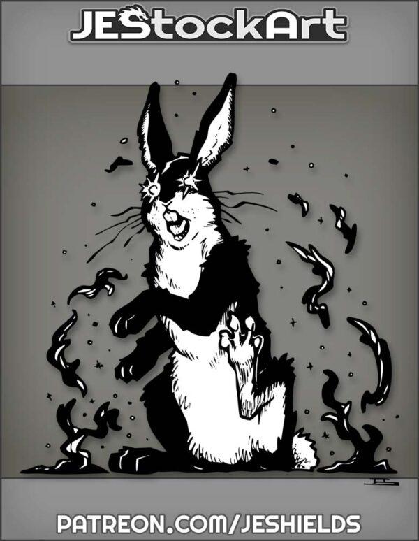 Crazed Black Rabbit Being Affected By Dark Elements by Jeshields