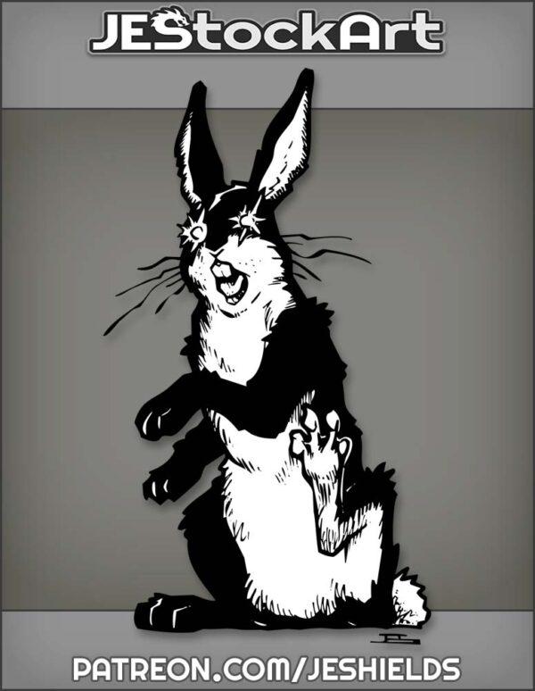 Crazed Black Rabbit Not Being Affected By Dark Elements by Jeshields