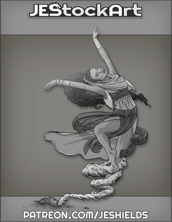 Dancing Female Genie by Jeshields