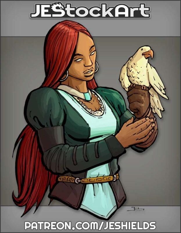 Female Falconer with Dark Skin by Jeshields