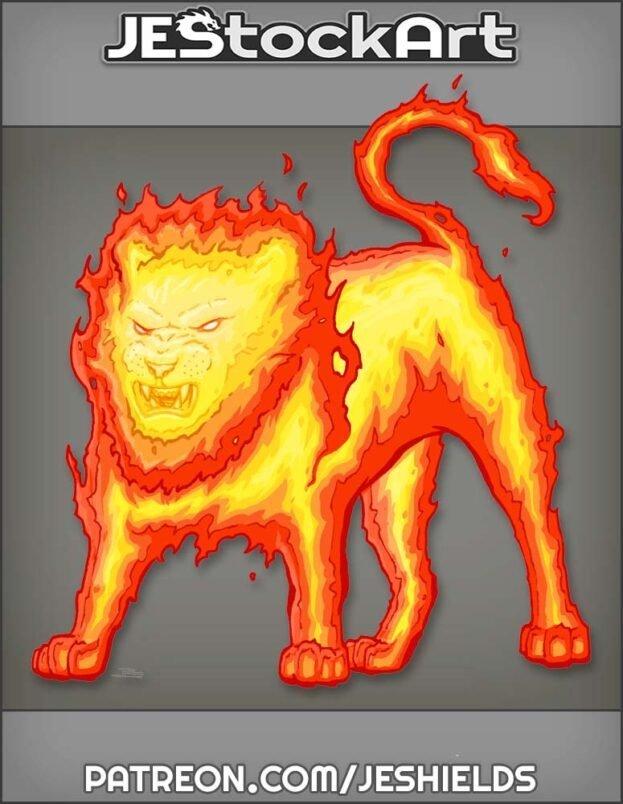Fire Lion by Jeshields