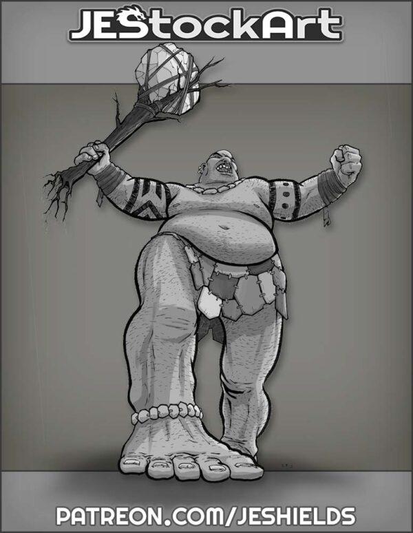 Giant Barbarian with Tree by Jeshields