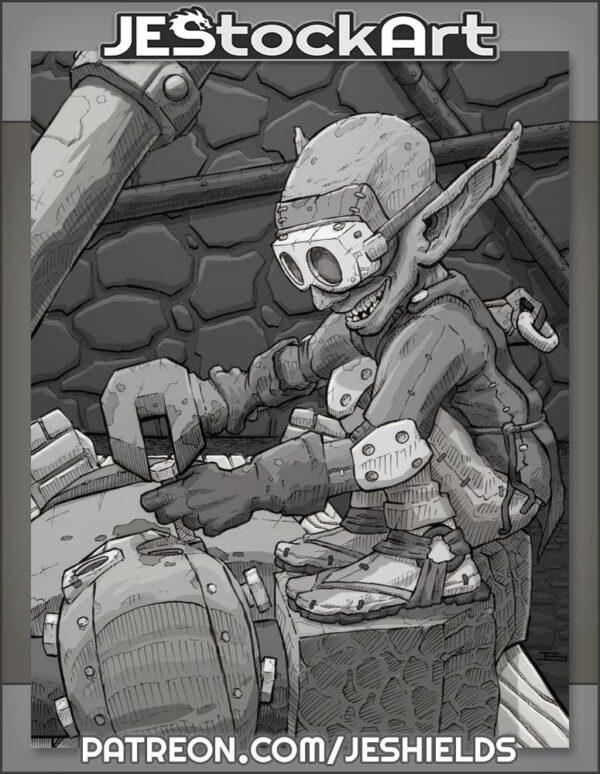 Goblin Tinkerer fixing Automaton by Jeshields