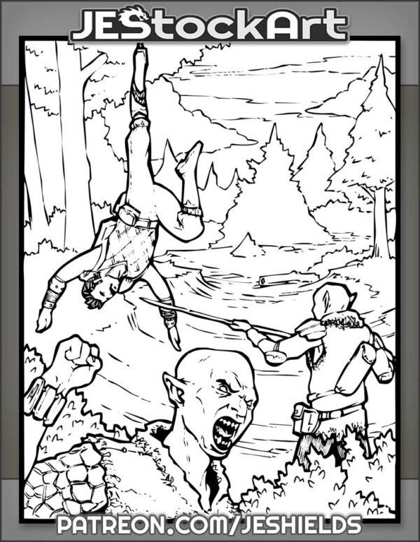 Goblins Celebrate Over Captive Adventurer by Jeshields