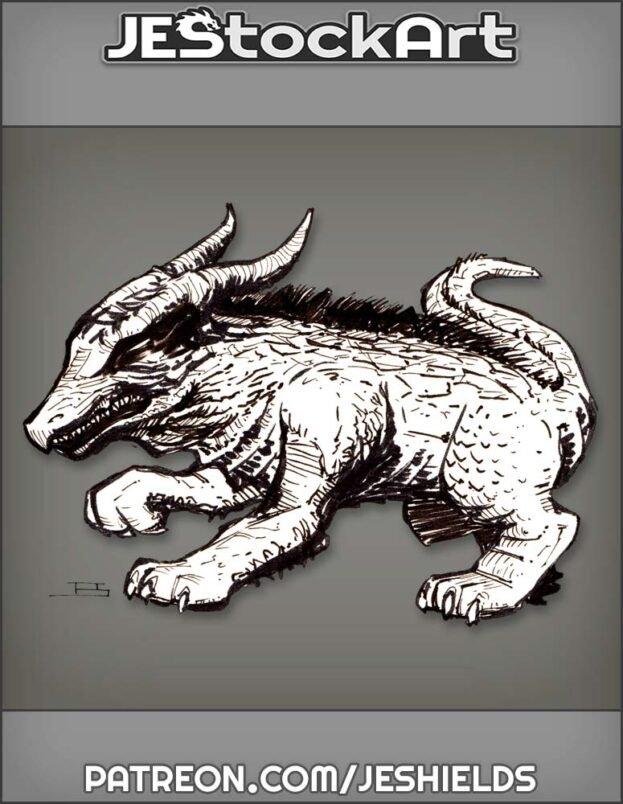 Hairy Dragon Boar Dog by Jeshields