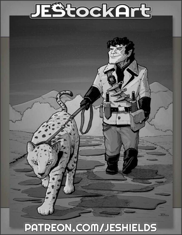 Halfling Rogue with Feline Pet by Jeshields