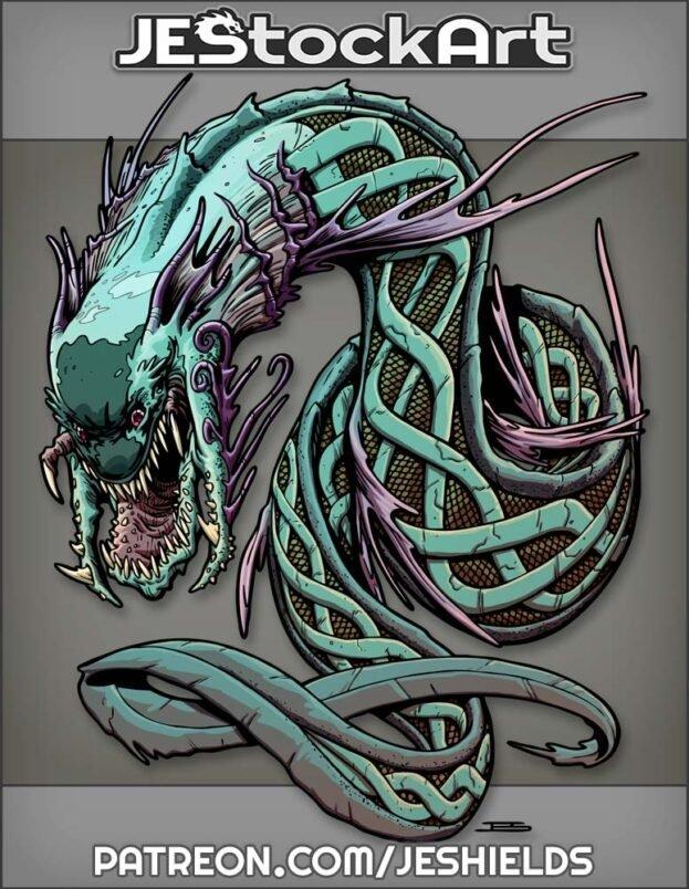 Jormungandr Is A Large World Serpent by Jeshields