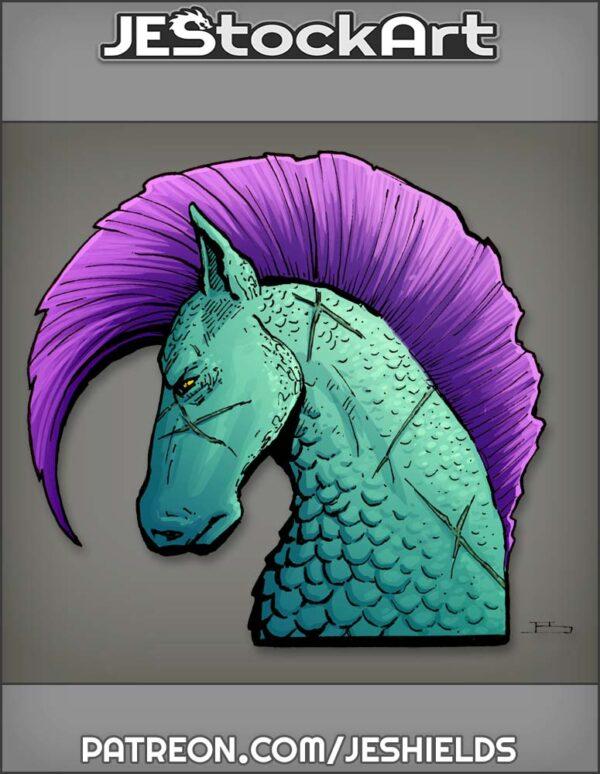 Merfolk Sea Horse With Scars by Jeshields