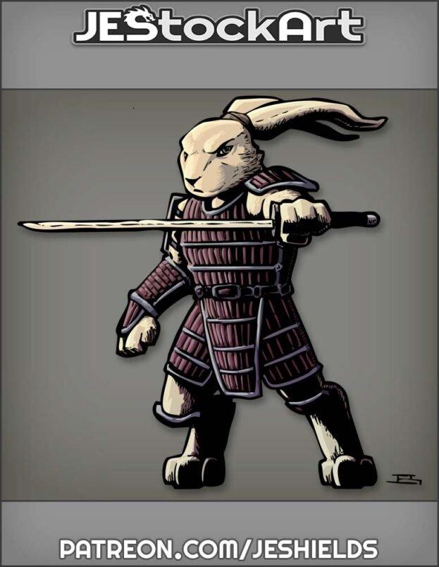 Mutant Rabbit With Sword In Samurai Armor by Jeshields