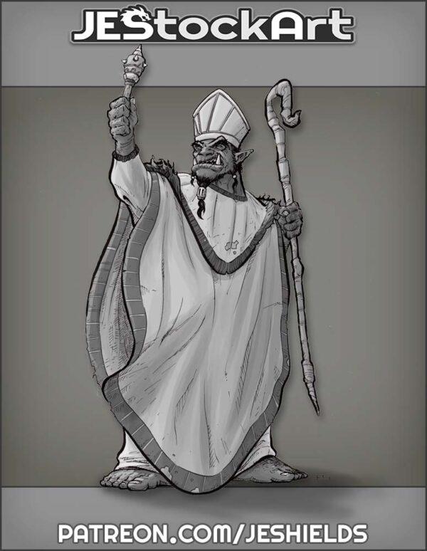 Orc Priest in Ceremonial Attire by Jeshields