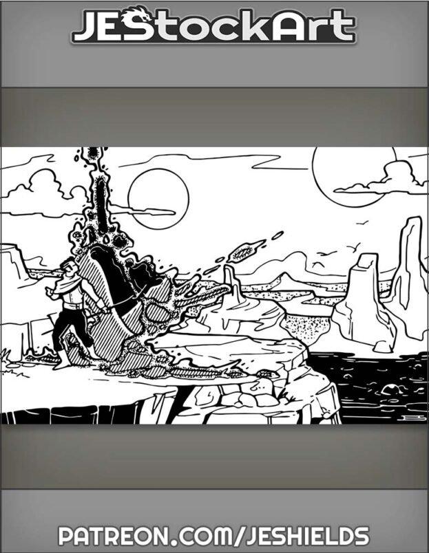 Planar Adventurer Travels Through Rift Into New World by Jeshields
