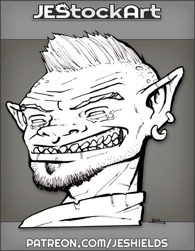 Portrait Of Sly Goblin With Feaux Hawk by Jeshields