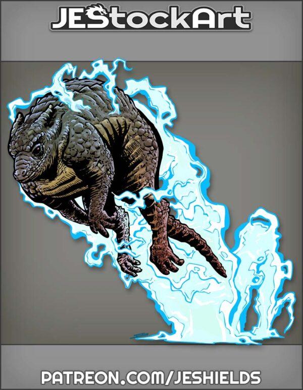 Reptilian Lightning Kangaroo In Mid Jump by Jeshields