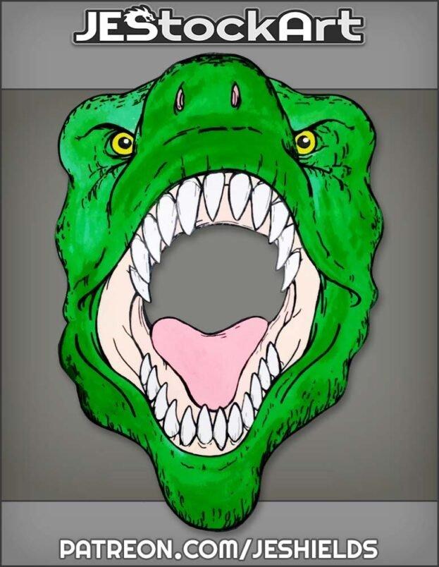 Roaring Dinosaur Face by Jeshields
