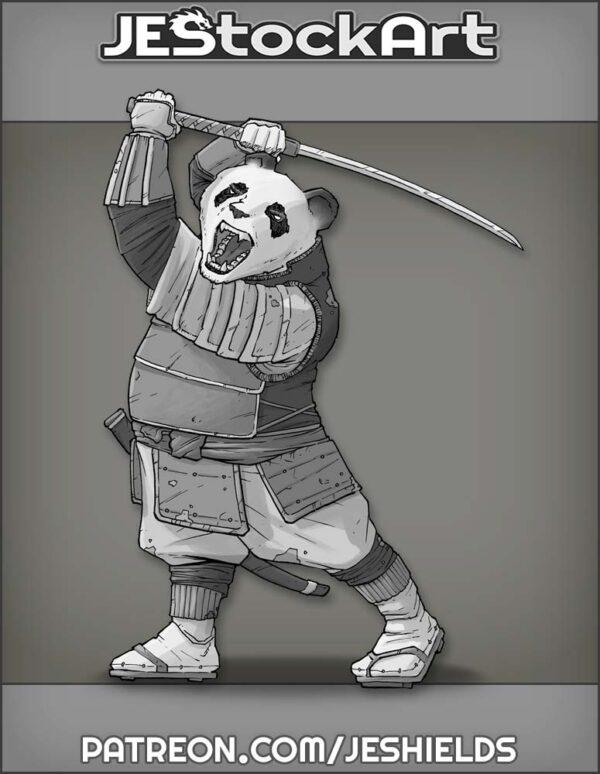 Samurai Panda with Sword by Jeshields
