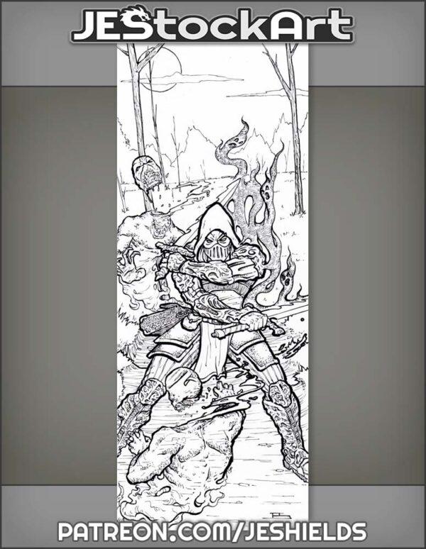 Spirit Slayer Wields Dual Swords in Haunted Woods by Jeshields