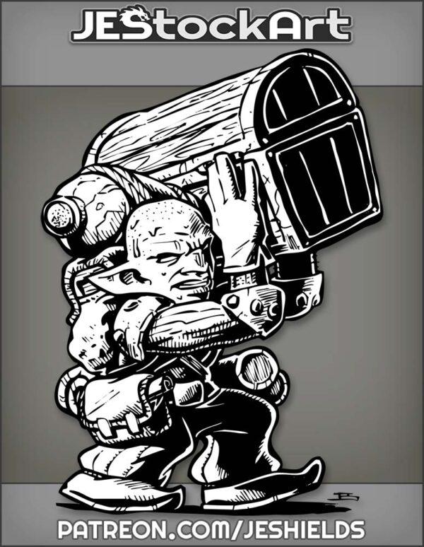 Sweaty Goblin Hireling Carrying Massive Amounts Of Loot by Jeshields