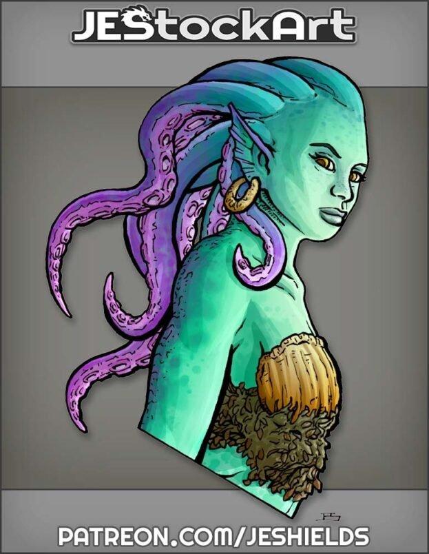 Tentacled Mermaid Bust by Jeshields