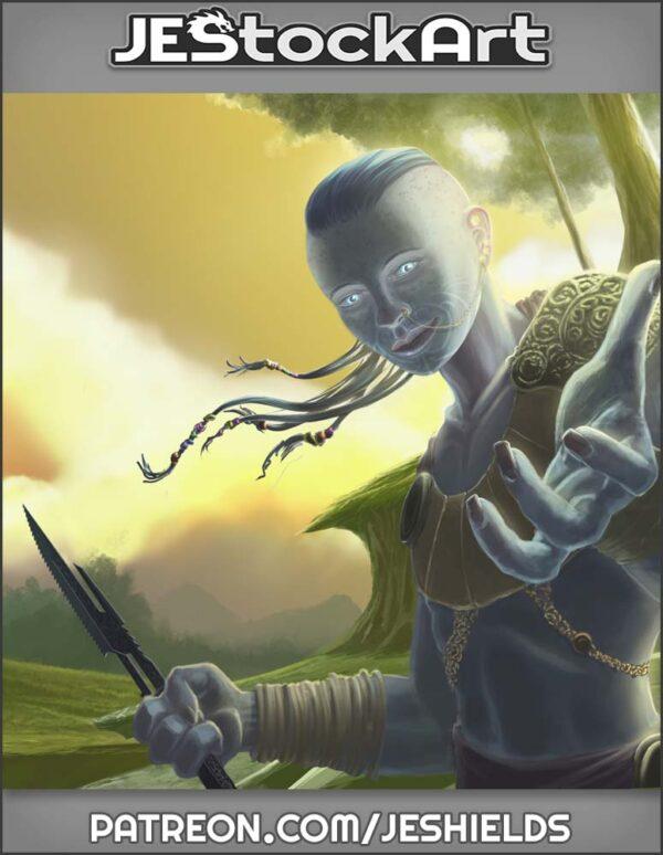 Tribal Albino With Dagger by Jeshields