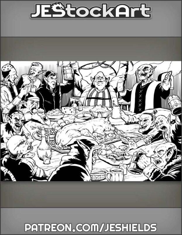 Twelve Goblins Gobbling by Jeshields