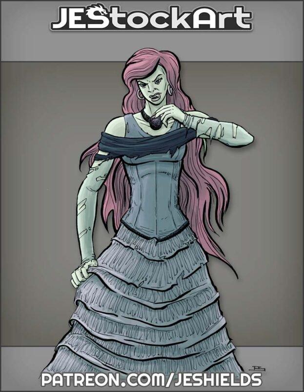 Undead Vampire Lady in Dress by Jeshields