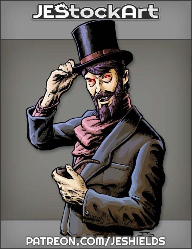 Gentleman In Top Hat With Beard by Jeshields