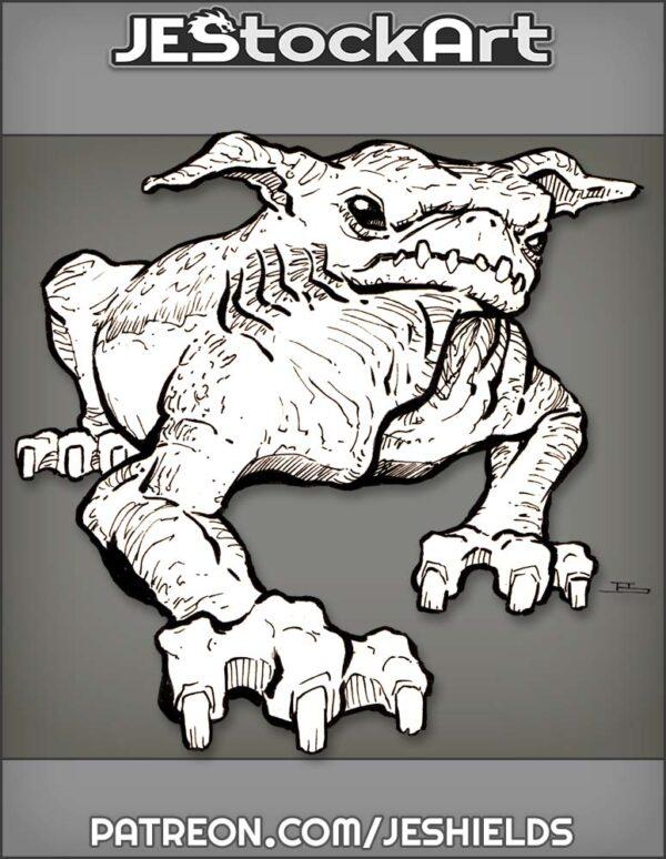 Wrinkled Goblin Pug Beast by Jeshields