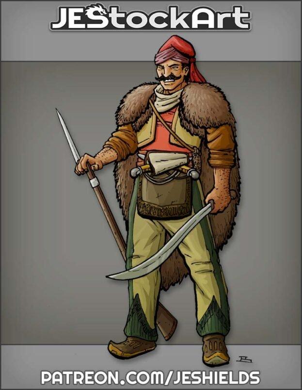 Hajduk Warrior with Musket and Sword by Jeshields