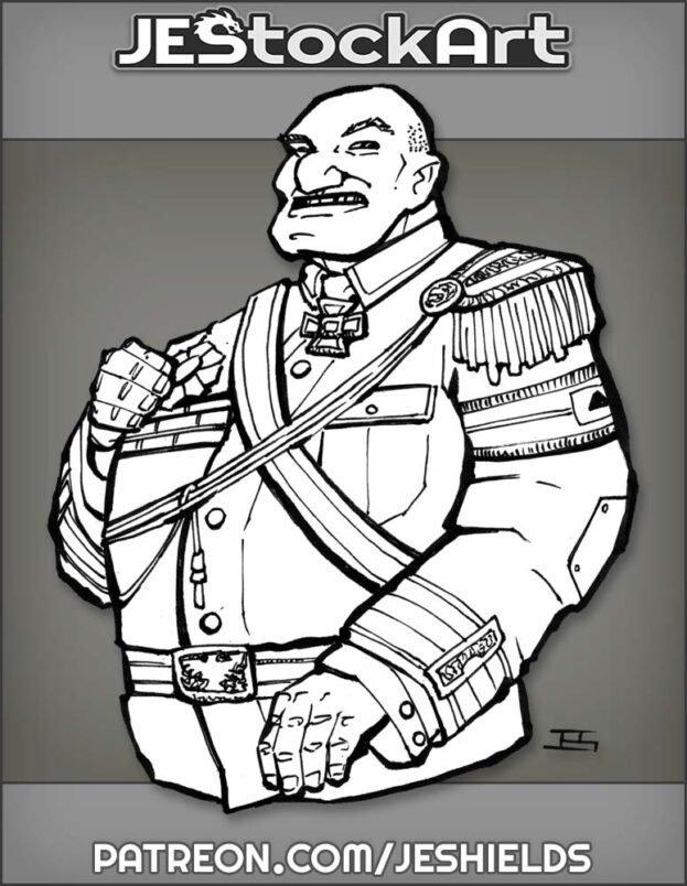 Bald Military General In Dress Uniform by Jeshields