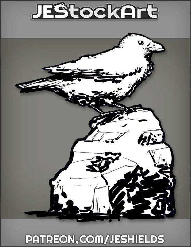 Bird On A Jagged Rock by Jeshields