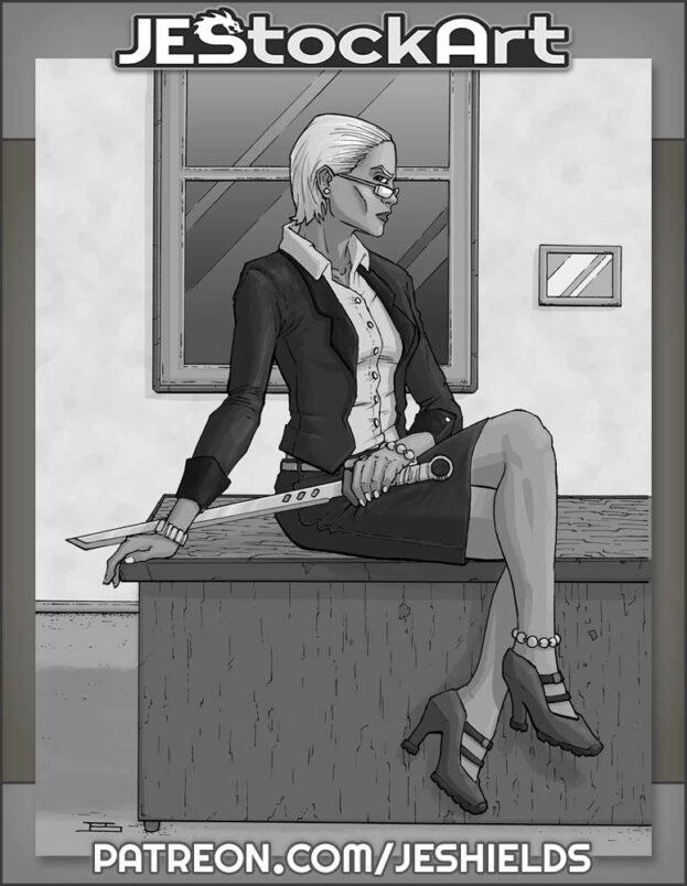 Business Woman with Sword by Jeshields