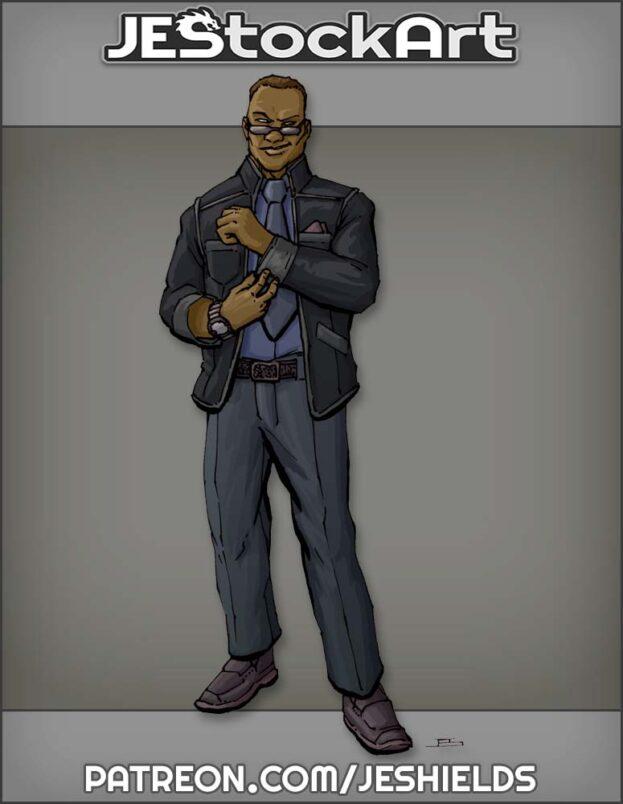 Slick Black Man In Fancy Suit by Jeshields