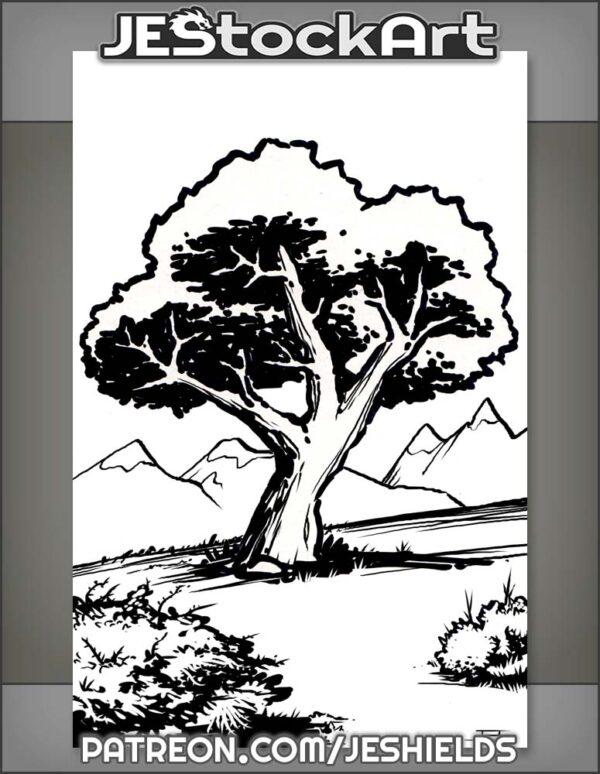 Tree On A Hill by Jeshields