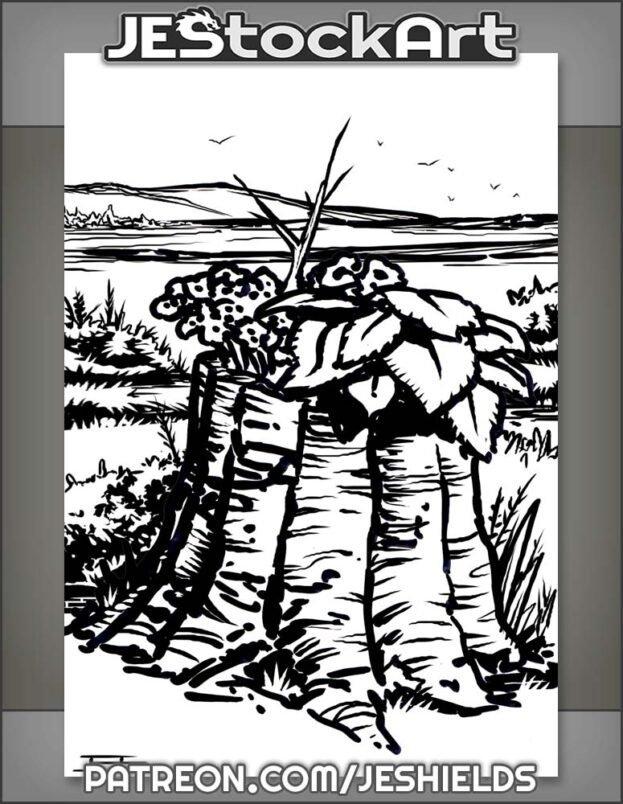 Tree Stump In Wilderness by Jeshields
