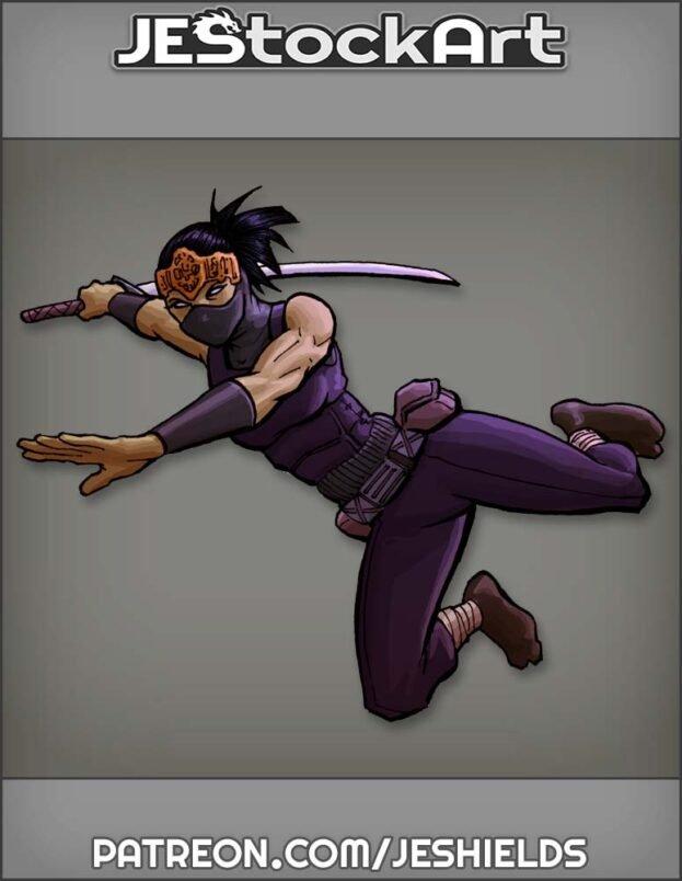Urban Female Ninja With Katana by Jeshields
