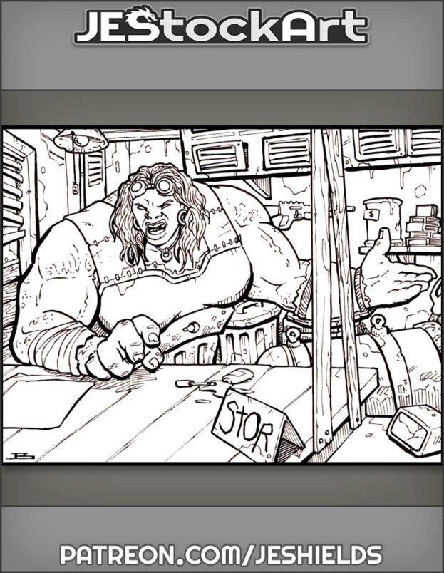Female Mutant Trader In Shop by Jeshields