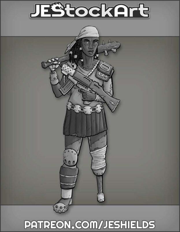 Female Wanderer with Peg Leg by Jeshields