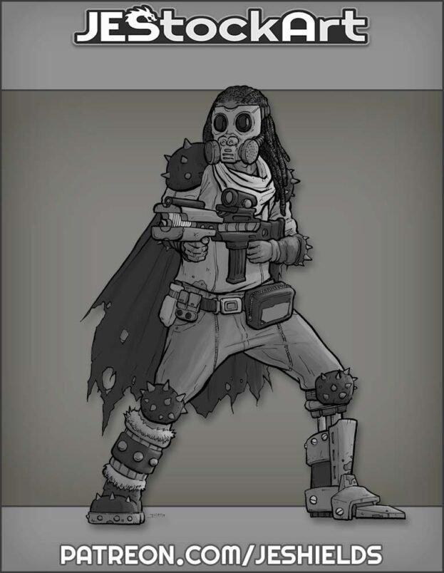 Warrior with Crude Cybernetic Leg by Jeshields