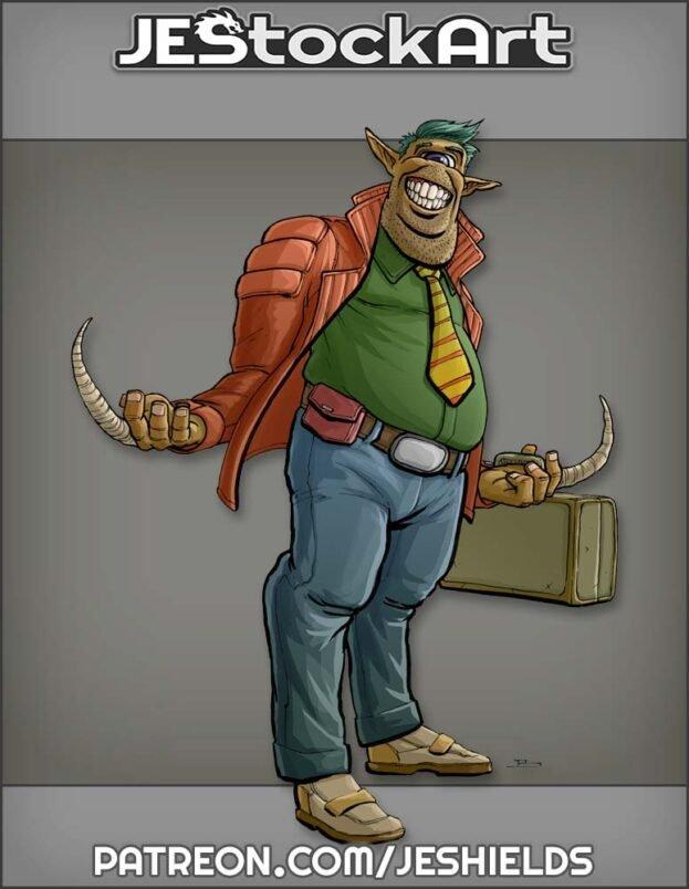 Alien Salesman with Briefcase by Jeshields